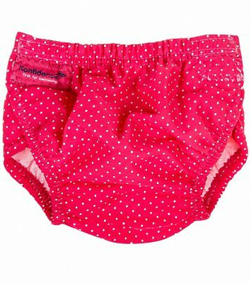 NEW Konfidence Swim Nappy One Size - Pink Polka Dot (3-30 months)