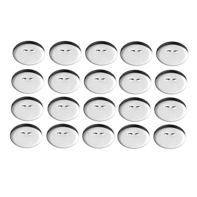 50x Blank Round Brooch Back Bar Pins Badge Cabochon Bezel Tray Settings Base