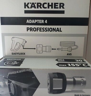 Kärcher Adapter 4 * 4.111-032.0 * EASY!LOCK auf 11mm Stecknippel AVS-Swivel; neu