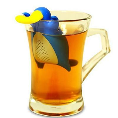 Cartoon Platypus Infuser Tea Leaf Strainer Herbal Silicone Filter Diffuser 8C