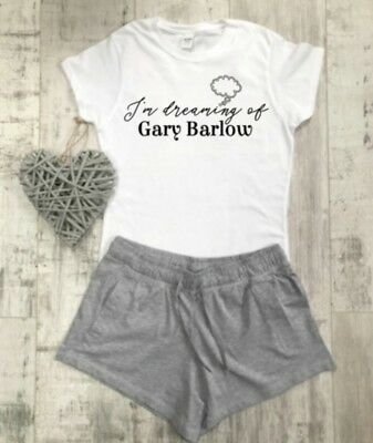 Gary Barlow Pyjamas, I'm Dreaming Of, Take That T-shirt Shorts Ladies Pyjamas