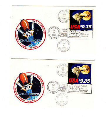 USA  Aboard Challenger  Aug 30 1983 two letter