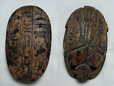 RARE ANCIENT EGYPTIAN ANTIQUE Scarab Carved Stone New Kingdom BC
