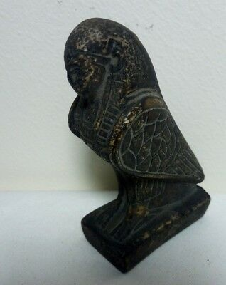 RARE ANCIENT EGYPTIAN ANTIQUE HORUS with Human Face Ancient Antique 1700-1100 BC