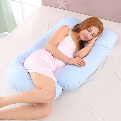 "63"" Pillow Case Cover Body Pillow for Pregnant Women & Maternity Use Blue"