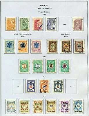 Turkey Official Stamps 1966-1971