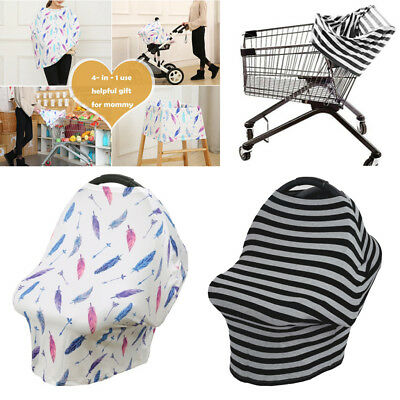 Multi-Use Infant Stretchy Nursing Cover Baby Car Seat Canopy Cart Cover
