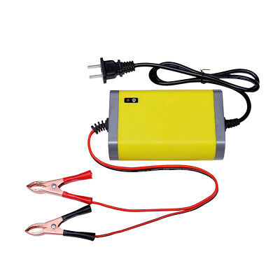 12V 2Amp Motorcycle Car Battery Charger Intelligent Charging Machine Yellow