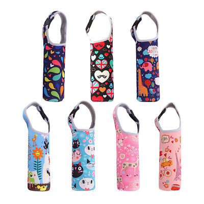 400-600ml Sports Water Bottle Carrier Cover Waterproof Neoprene Material