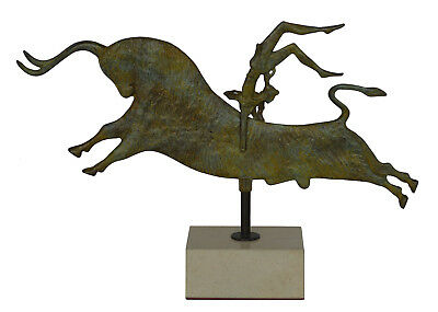 Bull-leaping Bronze Sculpture - Palace of Knossos Fresco - Minoan period Crete