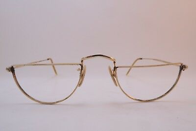 Vintage half eye reading eyeglasses frames gold filled ALGHA 20 made in England
