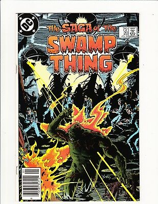 Saga Of The Swamp Thing #20 1984 1St Alan Moore On Title Newsstand Variant Key!