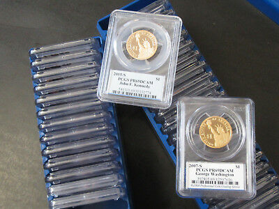 36pc Proof Presidential Dollars PCGS PR69 DCAM, 2007-2015 1st to 36th President