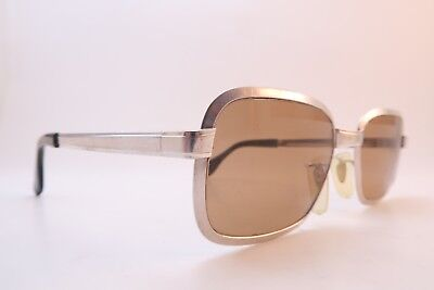 Vintage 60s white gold filled Metzler sunglasses Size 52-20 135 made in Germany