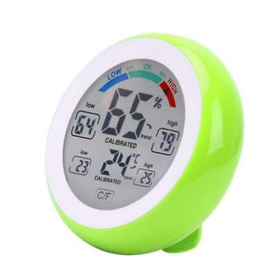 Hygrometer LCD Indoor Thermometer Temperature Humidity Monitor Gauge Green