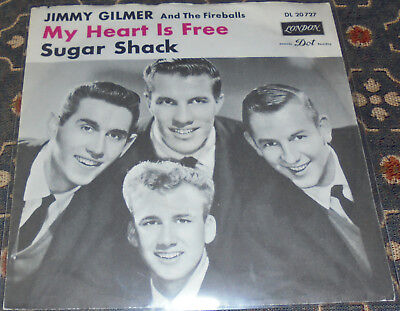 """Jimmy Gilmer and The Fireballs : My Heart is free,London,7"""",im Bildcover"""