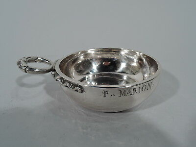 Antique Tastevin - Wine Taster - Oenophile Gift - French Silver - Early 19th C