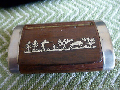 vintage french snuffbox circa 20s nice condition with wild boar hunting scene