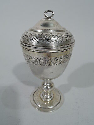 Export Covered Cup - China Trade Asian Antique - Chinese Silver - 19th C