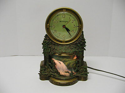 Vintage Mastercrafters Waterfall Motion Clock For Parts Or Repair