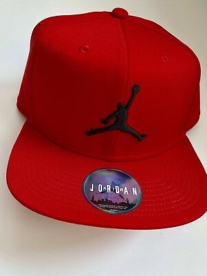 2f0674bc44f NIKE AIR JORDAN Jumpman Snapback Hat Flat Baseball Cap Red - One ...