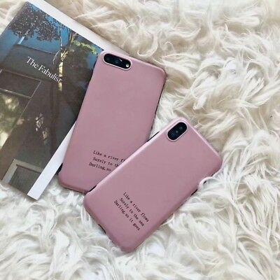 Simple Words Soft Rubber Silicone Pink Phone Case Cover For iPhone X 6s 7 8 Plus