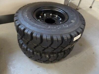 Nilfisk 8-89-08054 Janitorial Wheel and Tire assembly. Front soft shoe 5x8