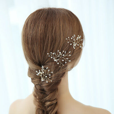 3pcs Bridal Hair Pin Wedding Hair Pins Pearl Rhinestone Hair Clip Hair Decor
