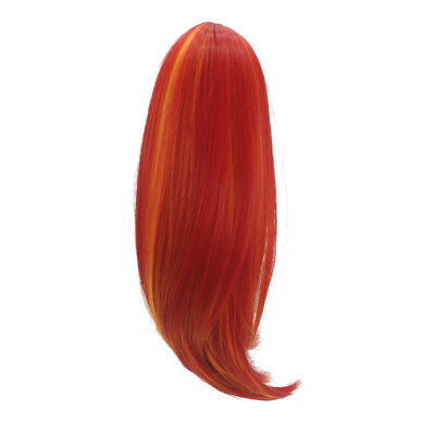 "35cm Fashion Flaxen Straight Long Hair Wig for 18"" American Girl Doll Making"