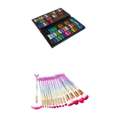 82 Colors Matte Shimmer Eyeshadow Highlighter Palette Cosmetic Brushes Set