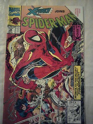 Spiderman issue #16 Marvel,1990s(with X-Force)
