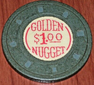 $1 10Th Edition Gaming Chip From The Golden Nugget Casino, Las Vegas Nv