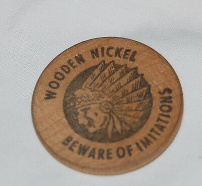 Vintage Wooden Nickel Beware of Imitations Westchester Federal Savings Lucky