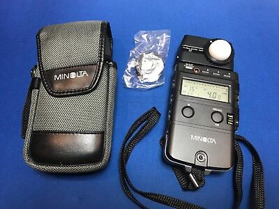 Minolta Flash Meter IV with Case and Strap - New Battery