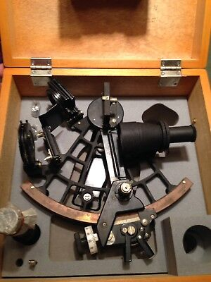 OAKLET RARE Nautical Japan Marine Sextant in Case