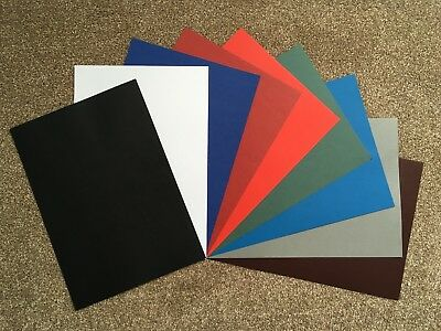 Leathergrain Card Covers. 250gsm supplied in A4, A5 & A6 in 10 great colours