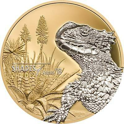 Sungazer Lizard – Shades Of Nature – 2018 $5 Pure Silver Coin – Cook Islands
