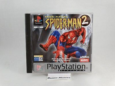 Spider-Man 2 Enter Electro Spiderman Playstation 1 2 3 Ps1 Pal Italiano Completo