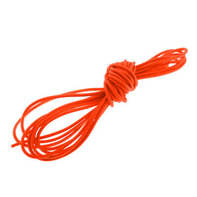 Orange Elastic Bungee Rope Shock Cord Tie down Strap 5m Length 3mm Thickness