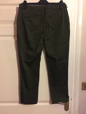 Dorothy Perkins Green Khaki Chino Trousers Size 10 excellent condition