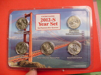 Littleton Coin 2012 S Uncirculated San Francisco Mint Quarters~National Parks