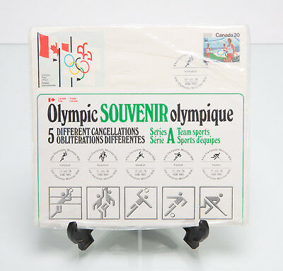 Canada Montreal Olympics 1976 - 5 Stamp Souvenir Set - Sports Series A SEALED