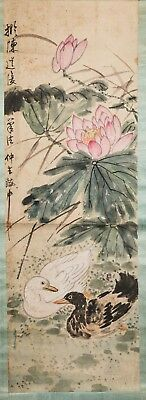 Chinese Painting of Ducks and Lotus