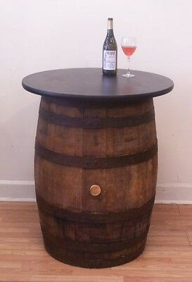 "Vintage Wood Whiskey Barrel Pub-Bistro-Bar Table-30"" table top"