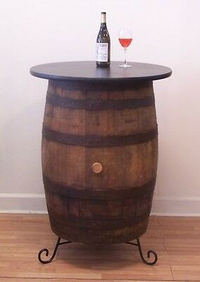 Vintage White Oak Barrel Table -Wine Tasting-Bistro-Bar-Pub-Home