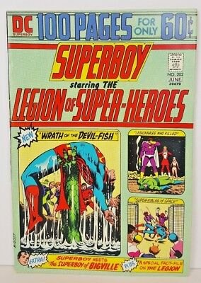 Superboy #202 (June 1974, DC) 100 Pages, Mike Grell's 1st Comic Work VF