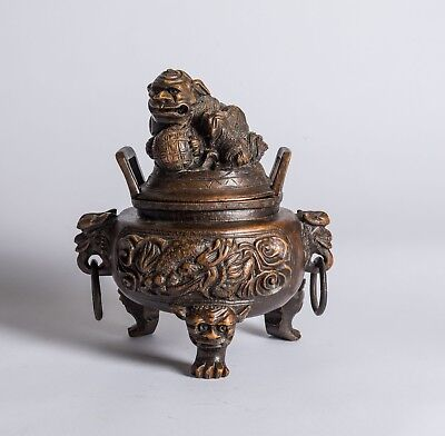 Late 19th-Early 20th Chinese Antique Bamboo Censer