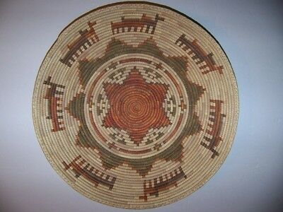 Vintage Very Tight Weave Sweet Grass Coiled South Western Basket