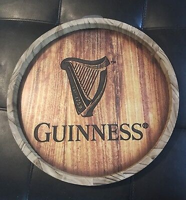 Guinness Round Recessed Wall Bar Pub Man Cave Harp Sign