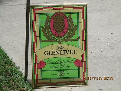 """The Glenlivet, Pure Single Malt Scotch Whisky 24"""" window or wall sign (whiskey)"""